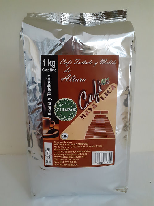 Café molido MAYA LICA; 1kg