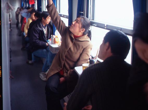 上海発成都行車中