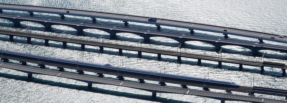 浜名湖 東海道新幹線