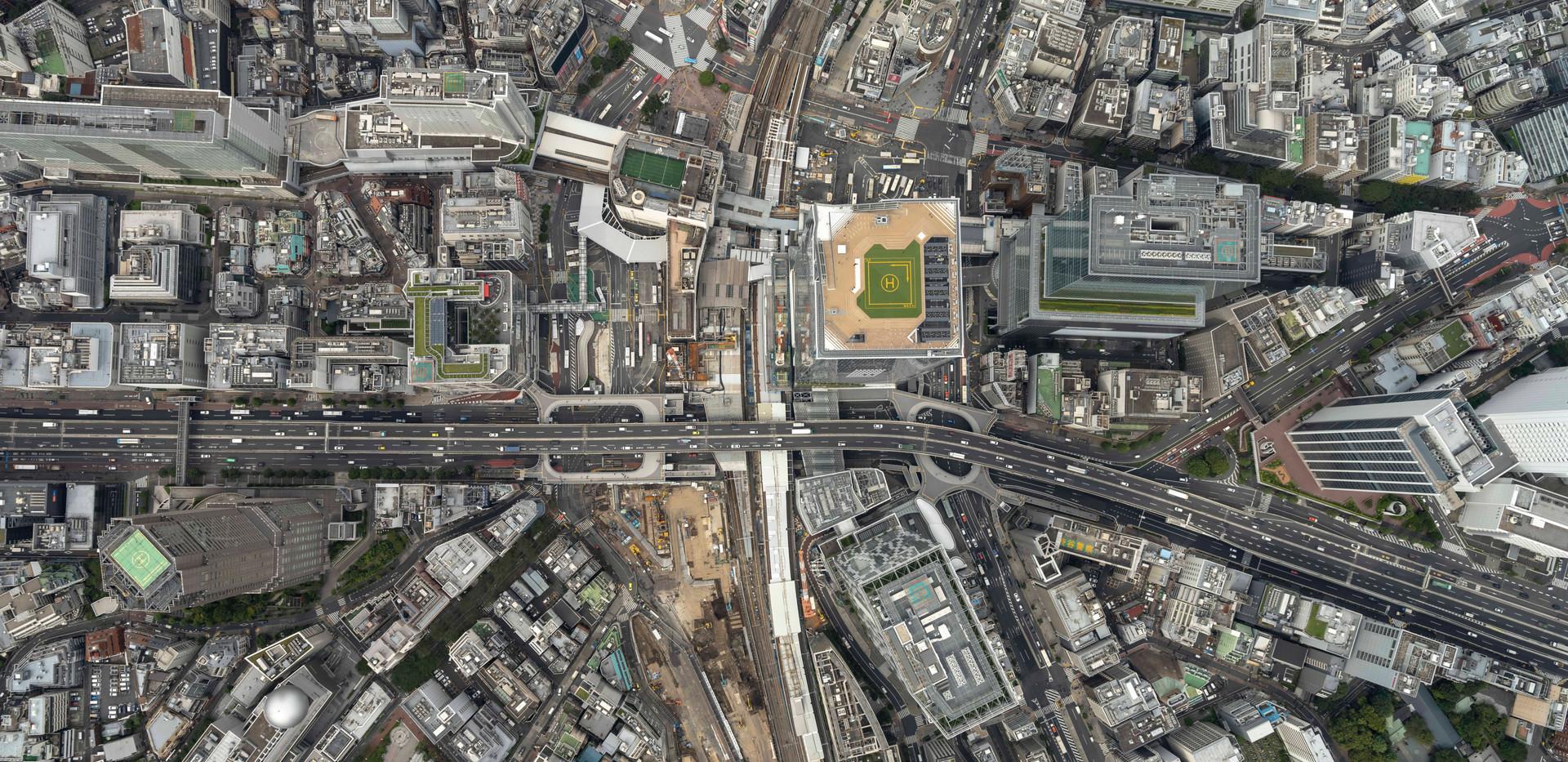 渋谷駅真俯瞰