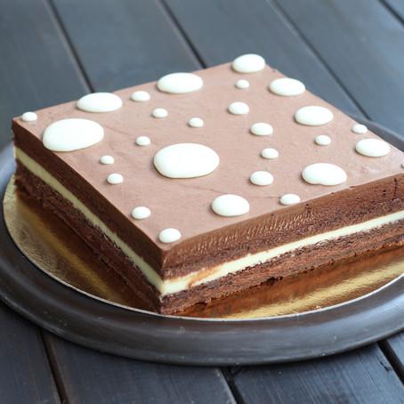 עונג חמוץ מתוק - עוגת מוס שוקולד לימון של פייר הרמה