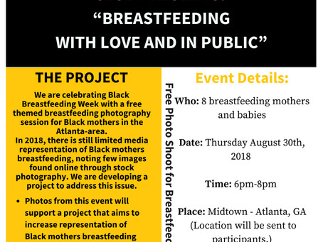 """Breastfeeding with Love and in Public"" - Free Photo Shoot During Black Breastfeeding Week"