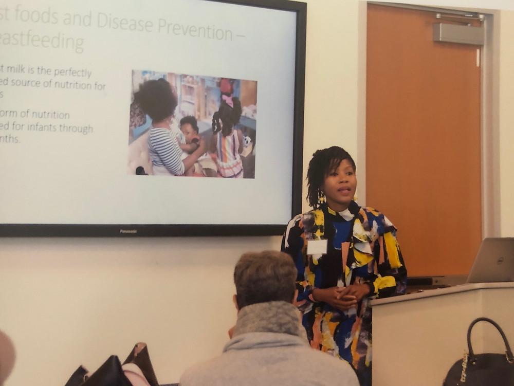 Ayanna Robinson presenting at An Annual Day of Wellnessin Cincinnati, Ohio in October 2018.