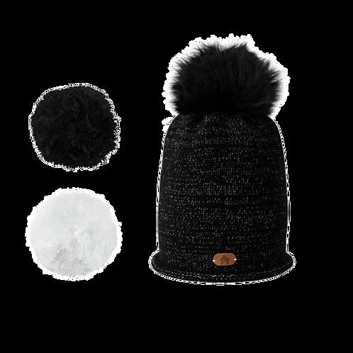 Bonnet HYDROMEL - Noir Paillettes
