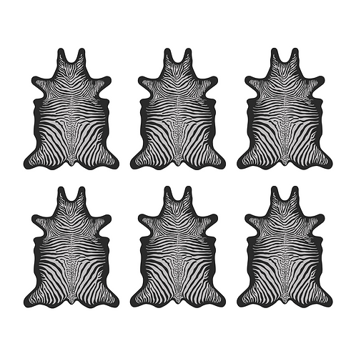 6 Dessous de Verre - Zèbre