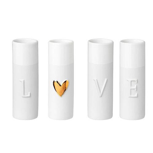 "Mini vases ""LOVE"" en Porcelaine"