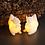 Thumbnail: 2 petits Écureuils en cire lumineux (télécommandable)