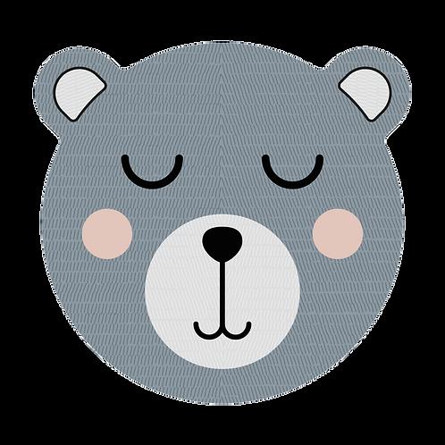 Tête d'ours en Vinyle - Bleu