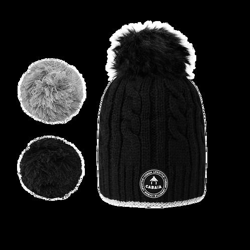Bonnet CREAMY GIN - Noir
