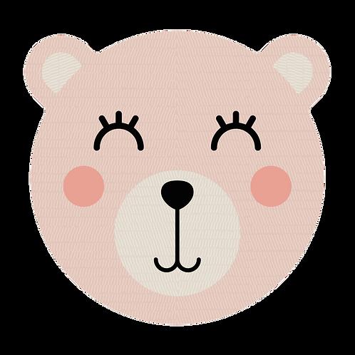 Tête d'ours en Vinyle - Rose