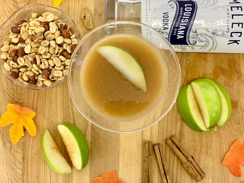 Caramel apple martini made with JT Meleck Vodka