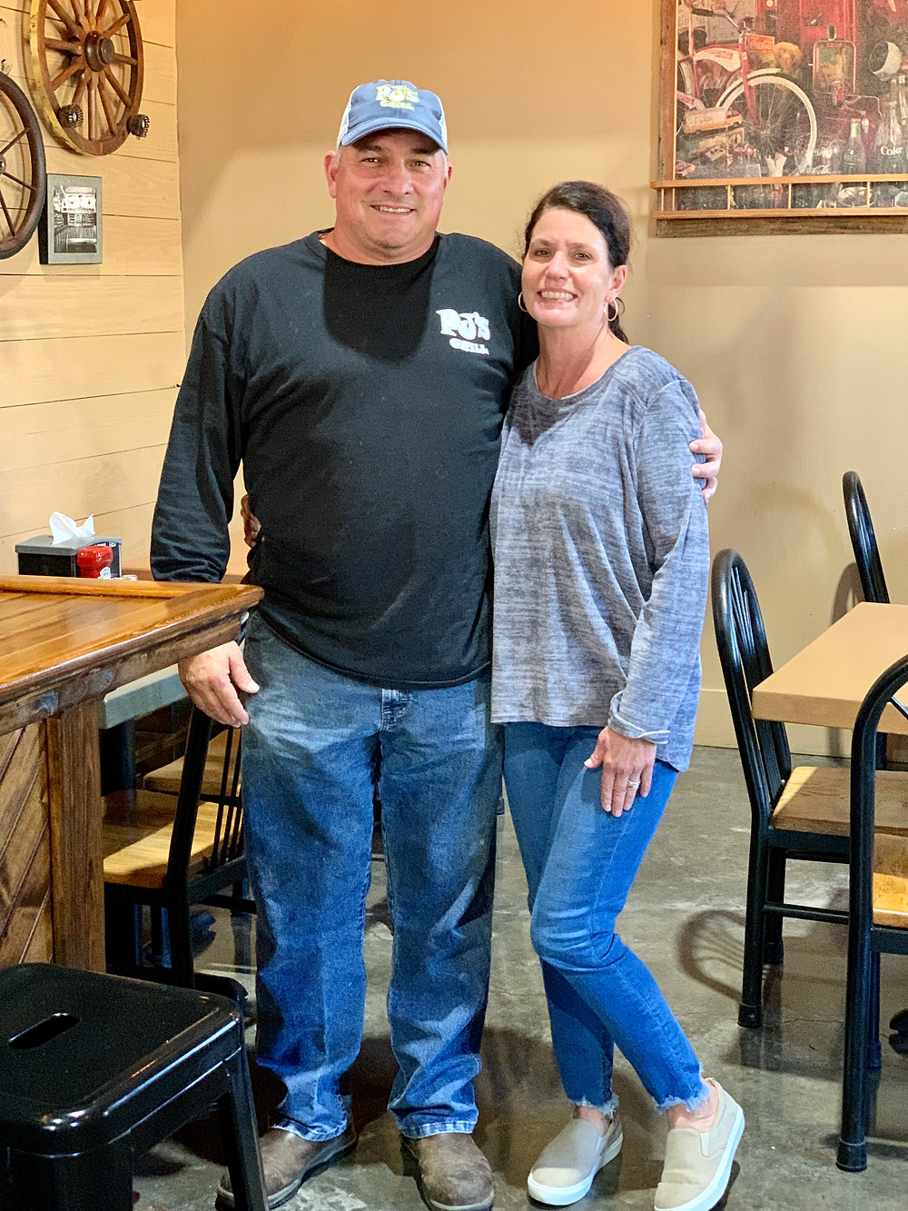 PJs Grill owners Peter and Stacie Boulet