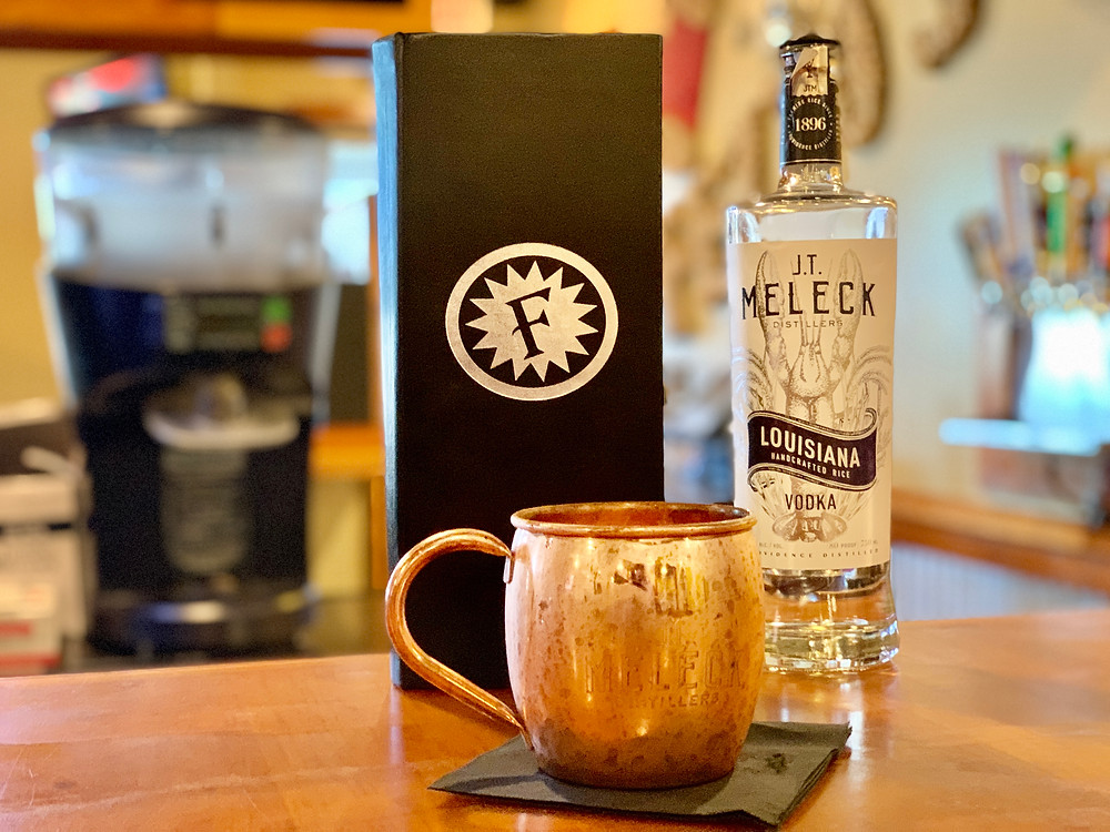 Acadiana Mule made with JT Meleck Vodka.