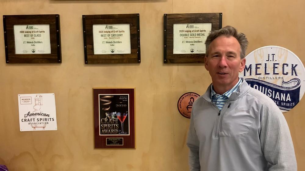 JT Meleck Louisiana Rice Vodka's three top awards from ADI.