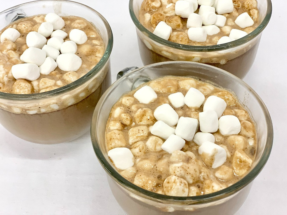 Spiked hot chocolate with marshmallows