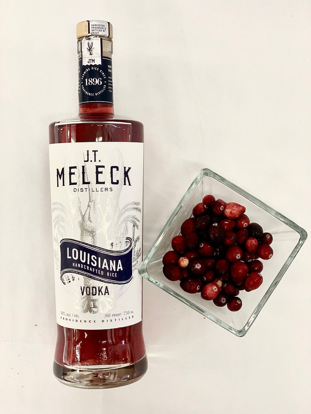 JT Meleck Vodka infused with cranberries