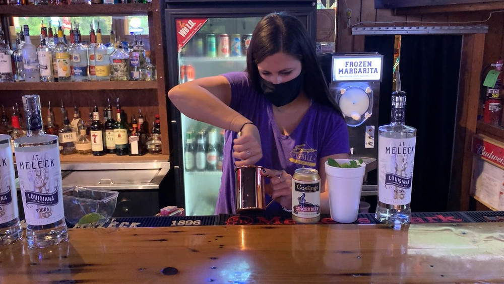 Alyssa Cooper making our Louisiana Moscow Mule