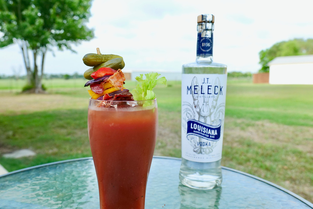 Ultimate Bloody Mary recipe and a bottle of JT Meleck