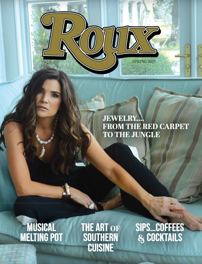 Magazine cover depicting woman on couch.
