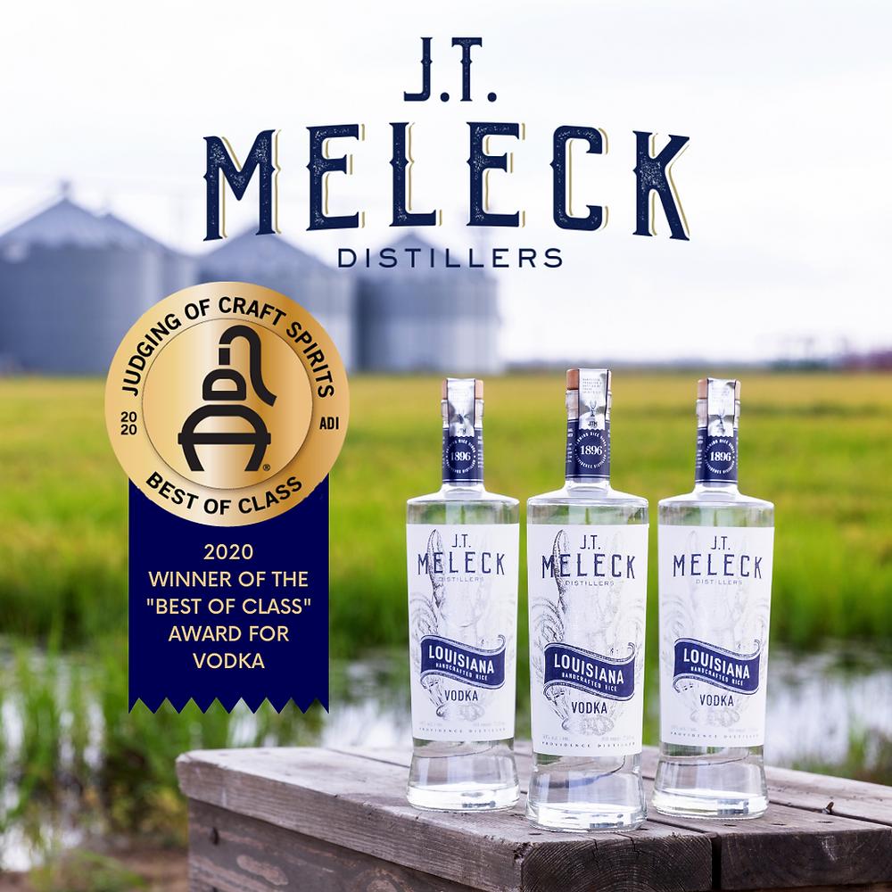 JT Meleck award-winning vodka.