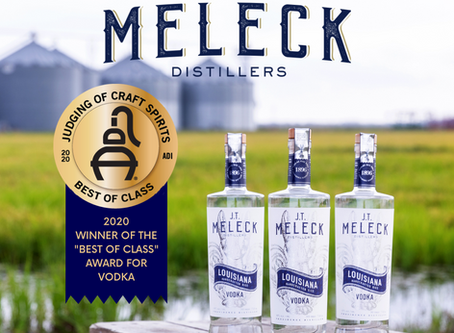 "JT Meleck Named 2020 ""Best of Class"" Vodka"