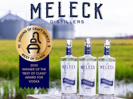 """JT Meleck Named 2020 """"Best of Class"""" Vodka"""