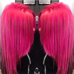 Pink Hair Coloring by Ariana