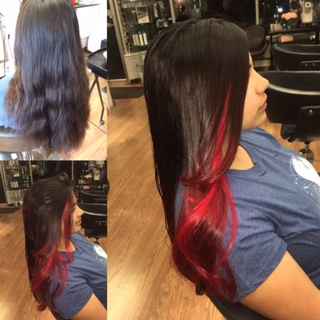 Red Ombre Highlights