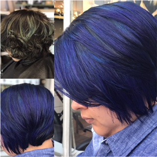 Blue-Violet Haircolor by Ariana