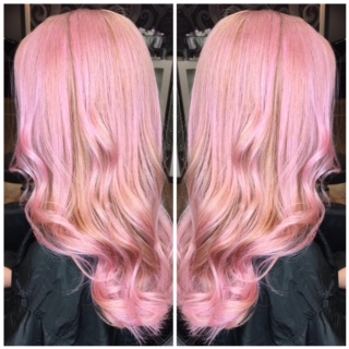 Rosegold Haircoloring done by Julz