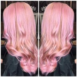 Rosegold Haircoloring done by Julz