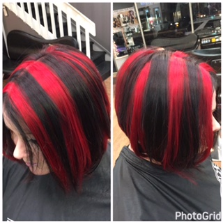 Chunky Red & Black Hilights by Julz
