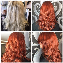 Haircoloring done by Yoly