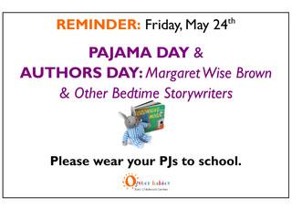 It's A Pajama Party, Bedtime Story-style, Fri 5/24