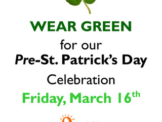 Wear Green: Fri 3/16 for Pre-St. Patrick's Celebration