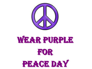 Wear PURPLE for PEACE DAY, Thu 5/16