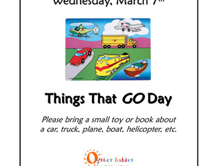 What will YOU bring? Things That GO Day, Wed 3/7 [Huntington only]