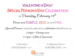 Valentine's Day/Special Person's Day Celebration, Wed 2/14