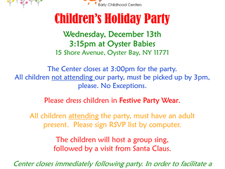 Celebrate the Holidays at Oyster Babies, 12/13