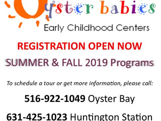 Registration Now Open: Summer & Fall 2019