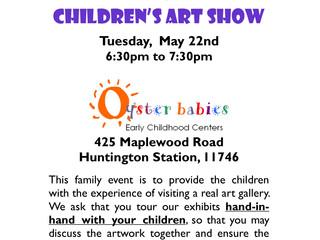 Children's Art Show (OBE): Tue 5/22, 6:30pm
