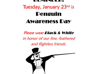Wear Black & White on Tue, 1/23 to Celebrate Penguins