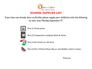 Back To School - Supplies List