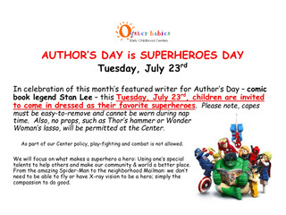 Author's Day (Stan Lee) is Superheroes Day, Tue 7/23