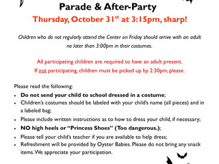 Annual Halloween Costume Parade & After-Party ~ Thu 10/31