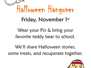 The Cure For The Halloween Hangover ~ Fri 11/1