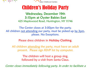 Oyster Babies East: Winter Holidays Children's Party, Wed 12/19