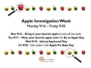 An Apple An Entire Week... Mon 9/16-Fri 9/20