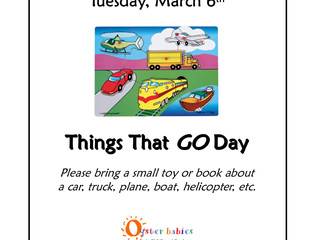 What will YOU bring? Things That GO Day, Tue 3/6[Oyster Bay only]
