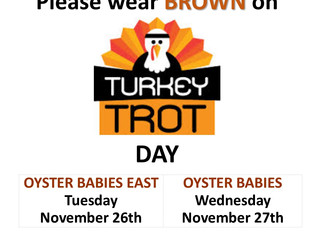 Turkey Trot AND Color Of The Month Day On The Same Day?? You Betcha